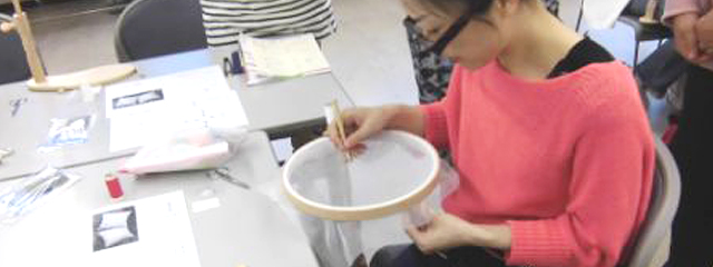 カルチャーセンターでのオートクチュール刺繍の特別講座