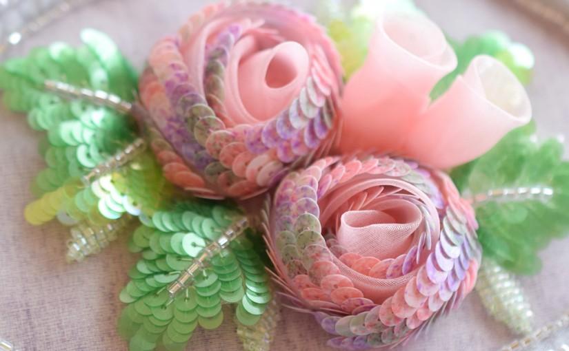 バラと刺繍とカルトナージュ