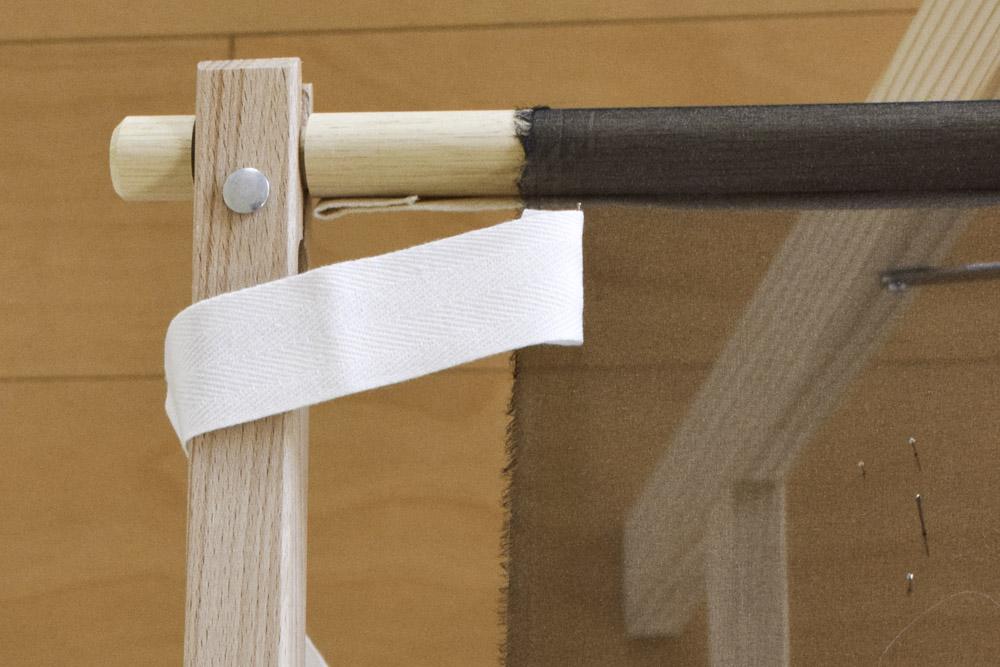 刺繍枠に布張る方法、布テープ2