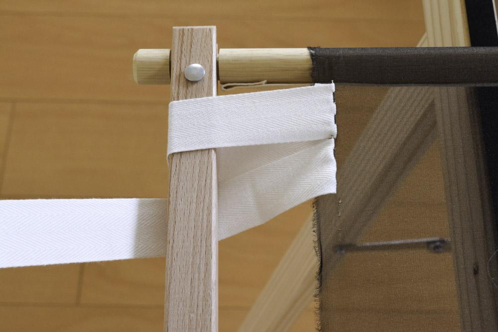刺繍枠の張り方、布テープ7