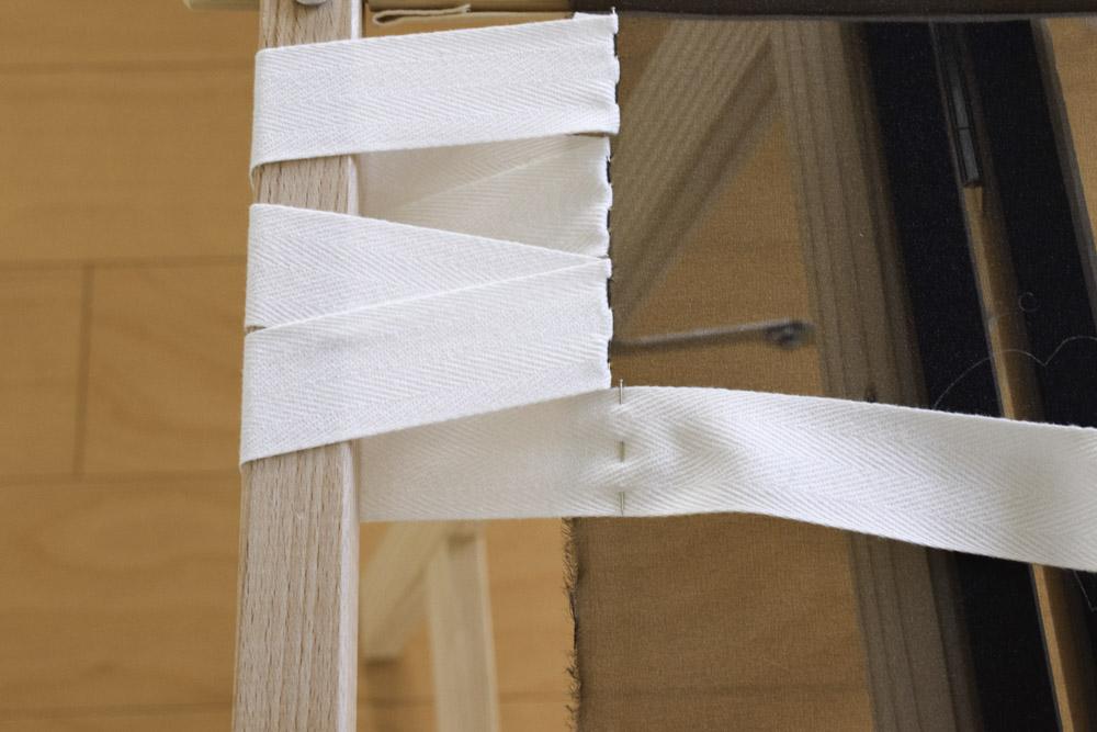 刺繍枠の張り方、布テープ12