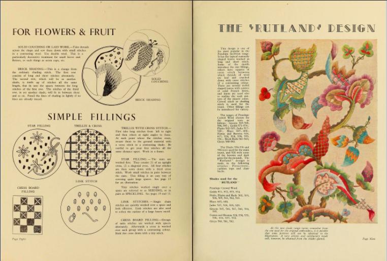 年代物のジャコビアン刺繍の本