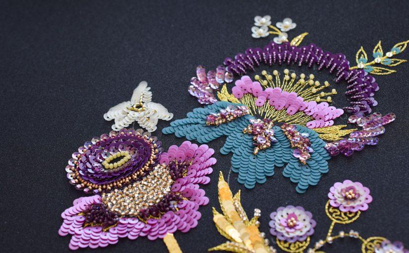 ジャコビアン風オートクチュール刺繍