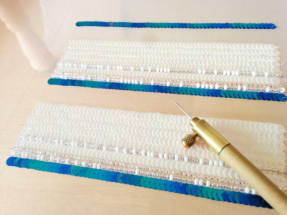 リュネビル刺繍のスパンコール