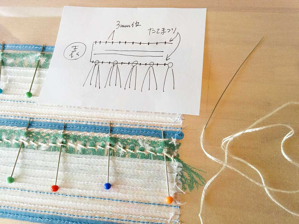 ブレードの縫い方