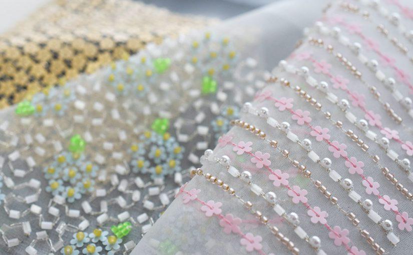 花のスパンコール、刺繍の使い方