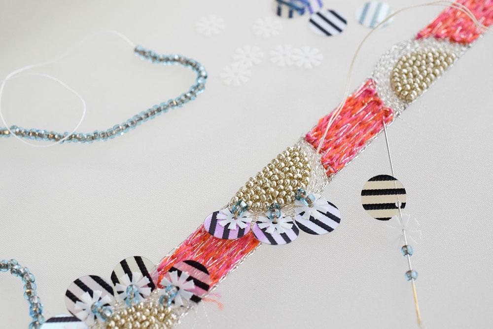 オートクチュール刺繍のやり方