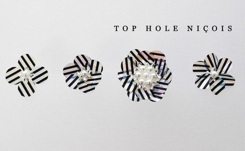 トップホールスパンコールの刺繍のやり方