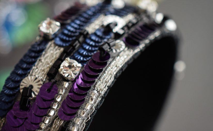 リュネビル刺繍のバングルブレスレッド