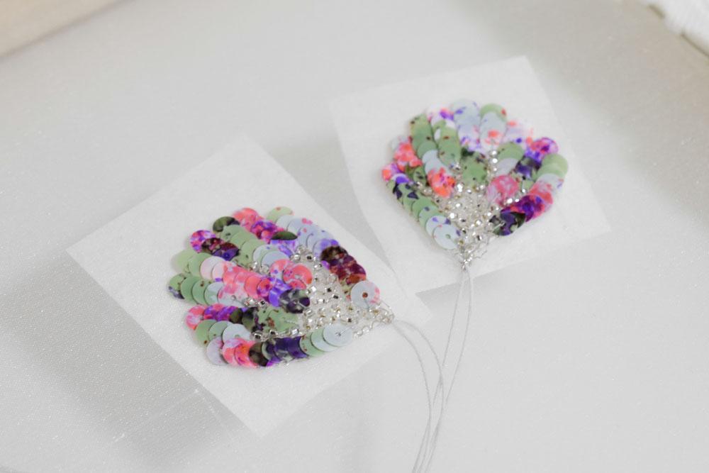 刺繍コサージュの作り方