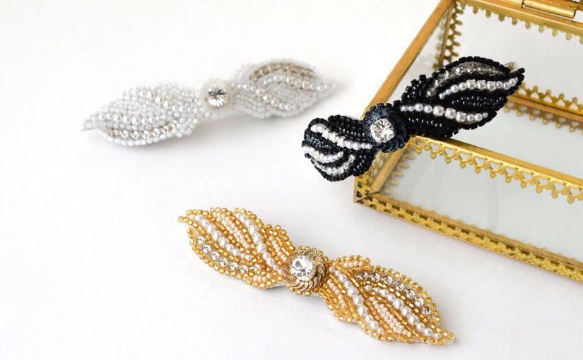 刺繍のブローチの仕立て方 バレッタの応用方法