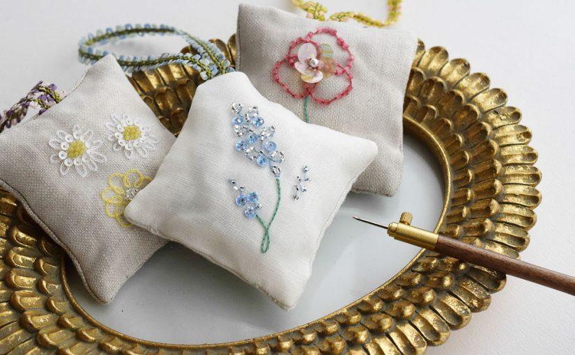 リュネビル刺繍レッスン 大阪 はじめての作品作り体験