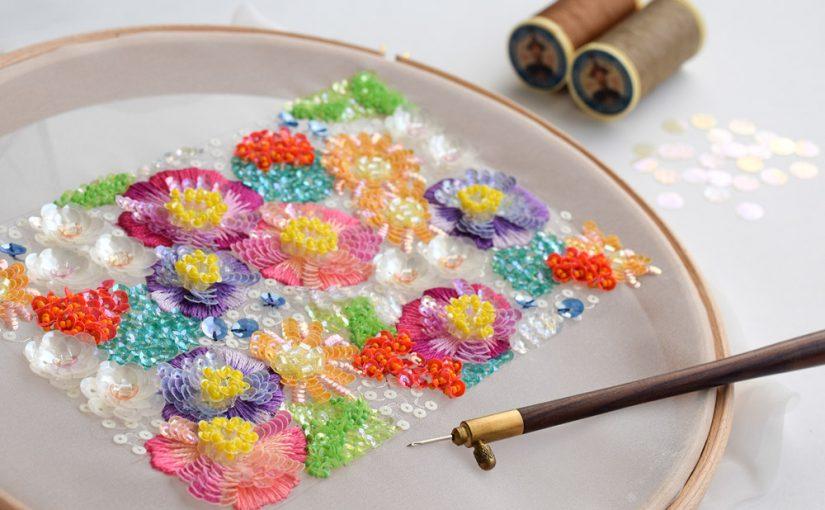 オートクチュール刺繍レッスン<br />横浜 生徒さん募集中です、2020春