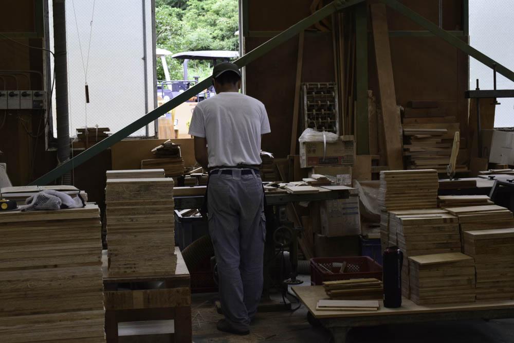 刺繍枠工場