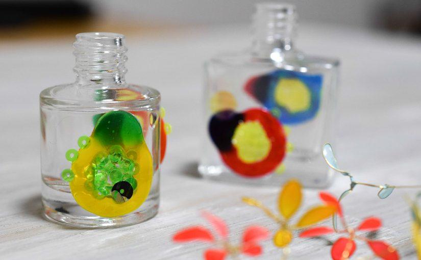 スパンコールの使い道2 – ガラス絵の具と